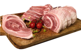 Varkensbuik zonder been, zonder zwoerd ('Pork Belly'; vers)