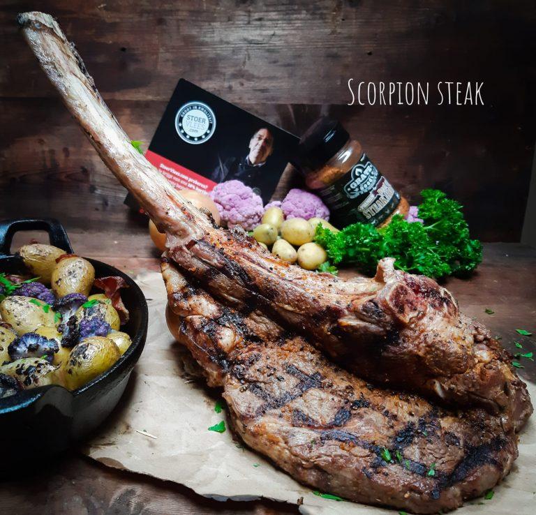 De 'scorpion steak' van tomahawk