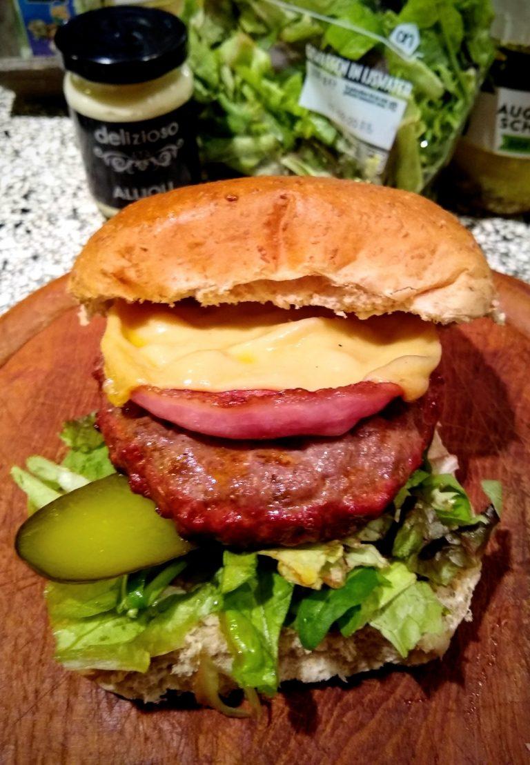 Smoked baconburger