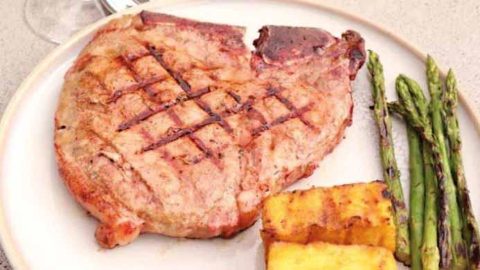 T-Bone steak 'reverse sear'