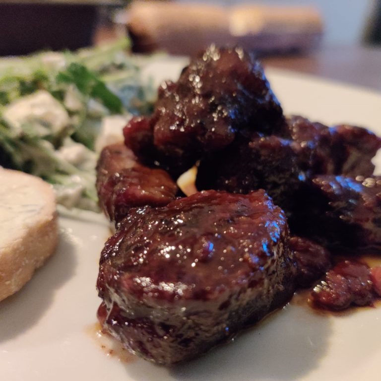Beef ribfingers 'burnt ends'